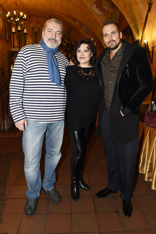 S kolegy Šalamouny - Danielem Hůlkou a Radimem Schwabem