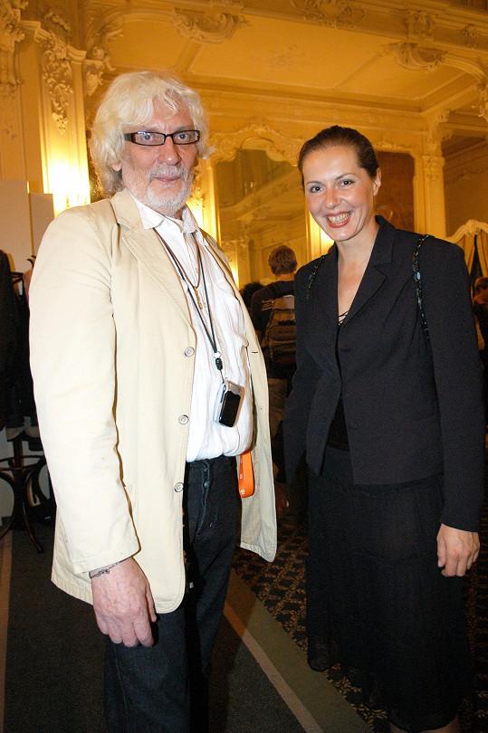 Petr Hapka s bývalou partnerkou Olgou Michálkovou