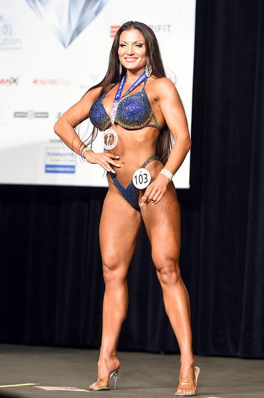Bojovala v kategorii wellness fitness.