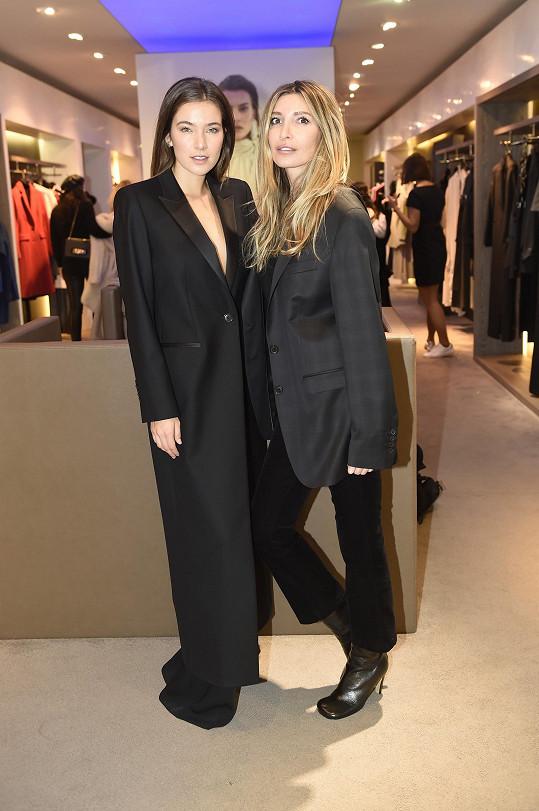 Ivana s Andreou Bezděkovou, která předvedla její kolekci Silverline Pietro Filipi.