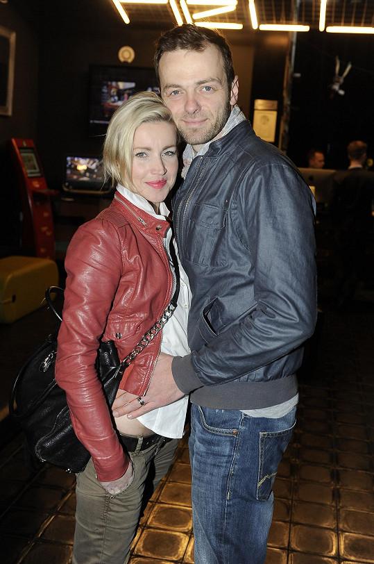 Lukáš Langmajer s manželkou
