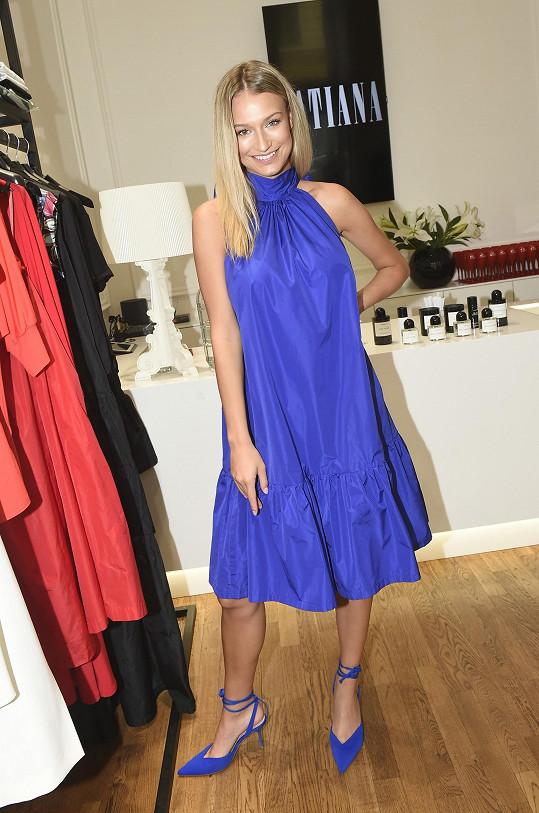 Kateřina je novou tváří návrhářky Tatiany Kovaříkové.