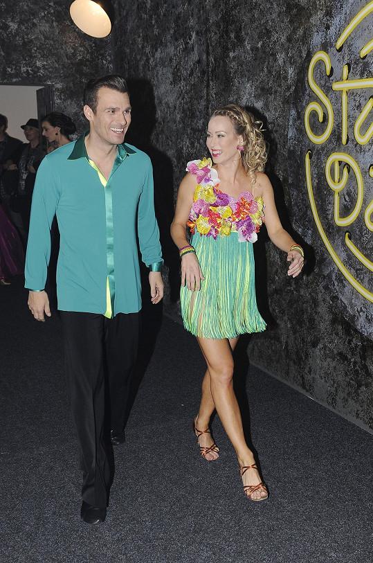 Leoš Mareš s taneční partnerkou Katarínou Štumpfovou tentokrát příliš nezaujali.