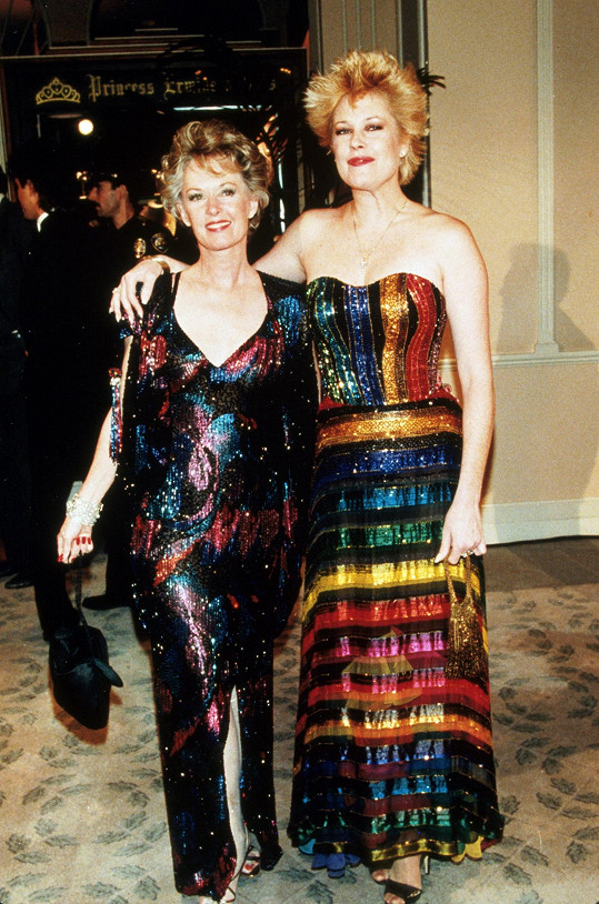 Tippi Hedren and Melanie Griffith v roce 1987.