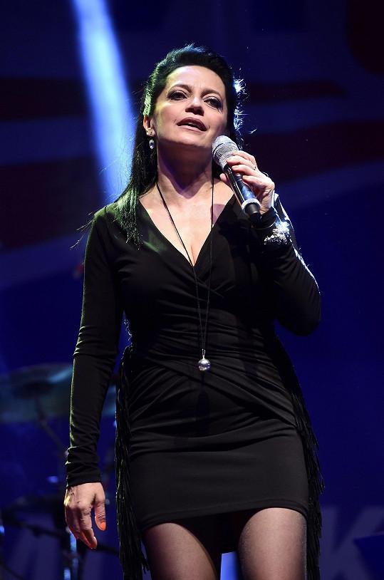 Koncertní show na Sazavafestu si Lucka užila.