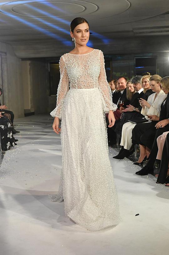 Andrea Bezděková byla ozdobou módní show Poner.