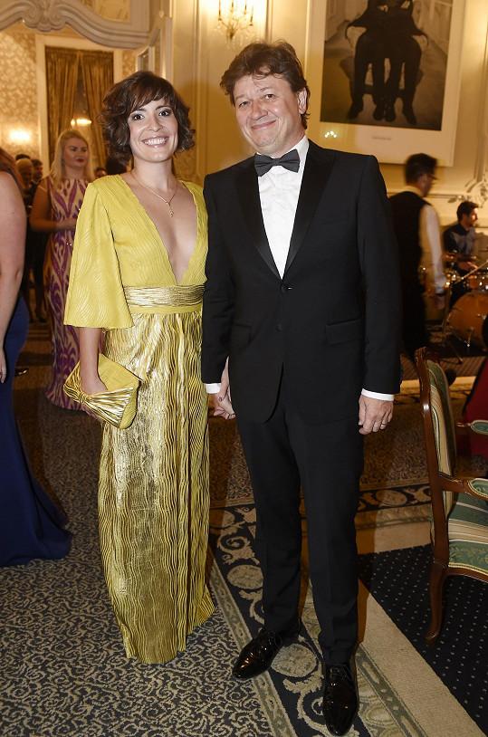 Režisér s manželkou Romanou Goščíkovou na starším snímku