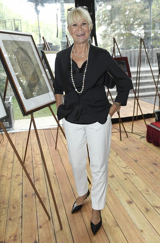 Dobročinné akce se zúčastnila i Milada Karasová.