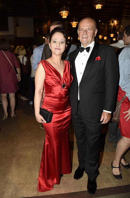 Mihulová s partnerem Leem