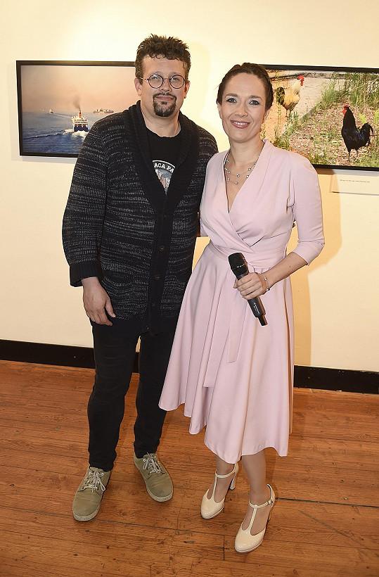 Herečka s manželem, režisérem Jakubem Nvotou
