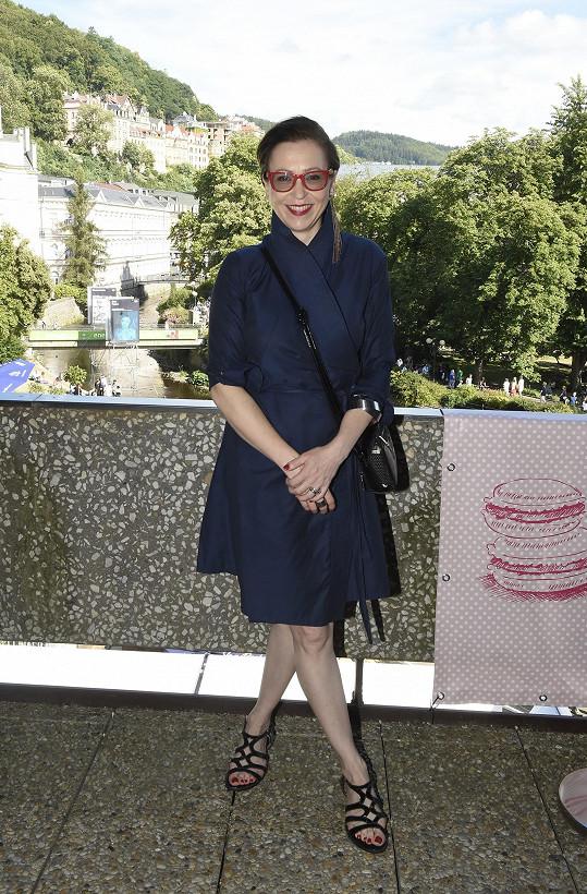 Na párty JC Deacaux se zastavila Zuzana Stivínová.