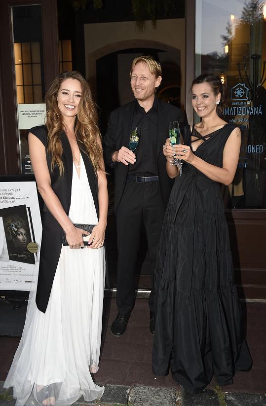 Lilia s Karlem a modelkou Zuzanou Jandovou