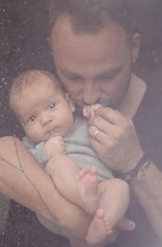 Marek Dědík s malým Dorianem
