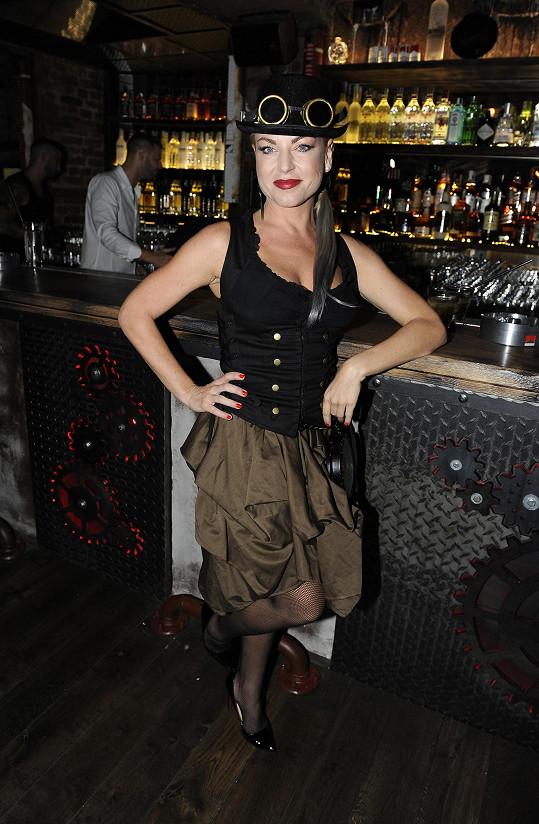 Martina měla velmi odvážný outfit.