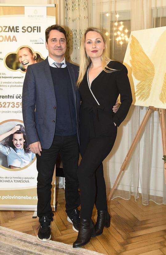 Saša Rašilov se svou druhou manželkou Lídou