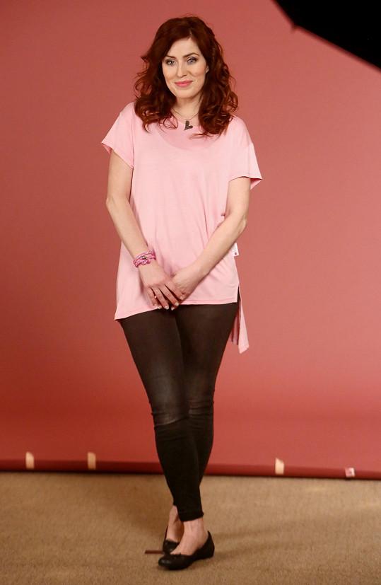 Soňa Norisová fotila 'růžovou' kampaň.