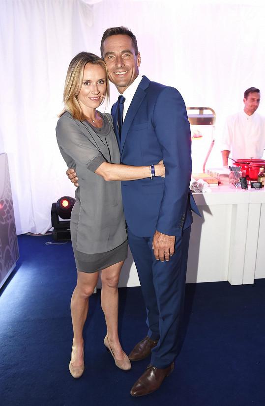 Roman s manželkou Evou