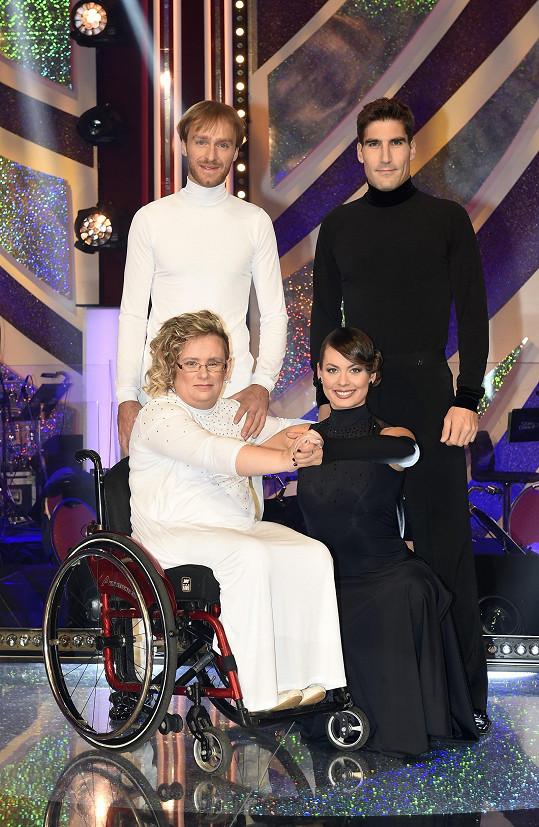 Během charitativního večera tančil s Jakubem Vágnerem a Michaelou Novákovou a s vozíčkářkou Eliškou