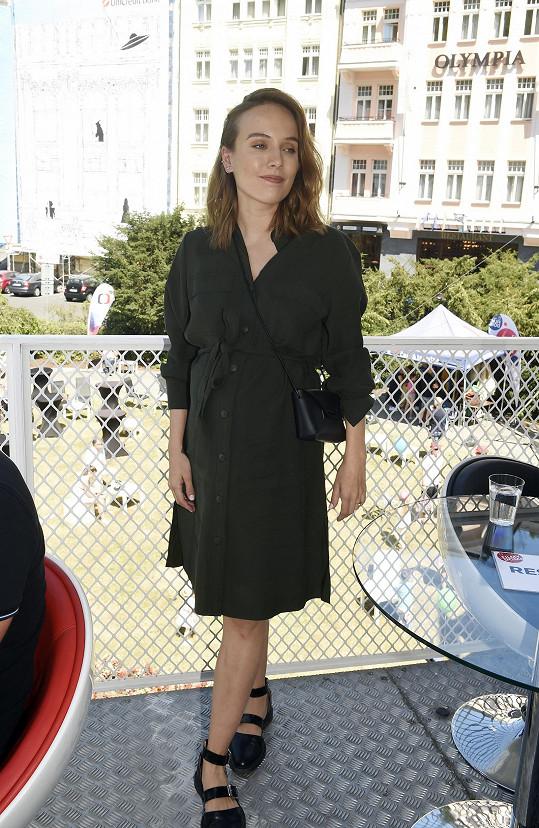 Tereza Voříšková měla na festivalu pracovní povinnosti.