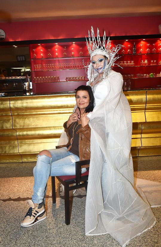 Dáda s druhou představitelkou Sněhové královny Mahulenou Bočanovou