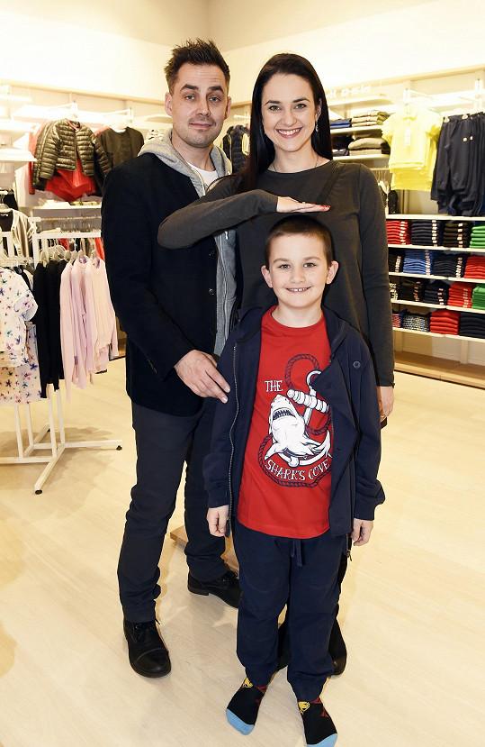Vojtková s Rohlíčkem a synem Matyášem