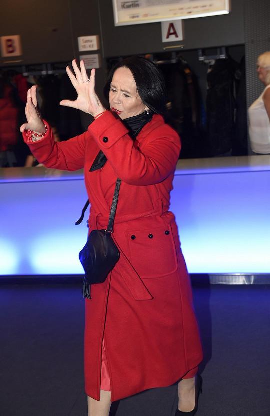 Takhle loni reagovala na média, když utekla v polovině premiéry z Hudebního divadla v Karlíně.