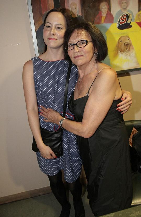 S Martou Kubišovou, o níž snímek Magický hlas rebelky je, přišla dcera Kateřina.
