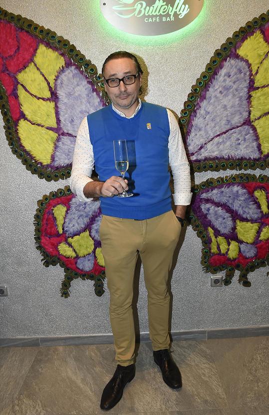 Marian Vojtko vyrazil na motýlí párty bez partnerky.