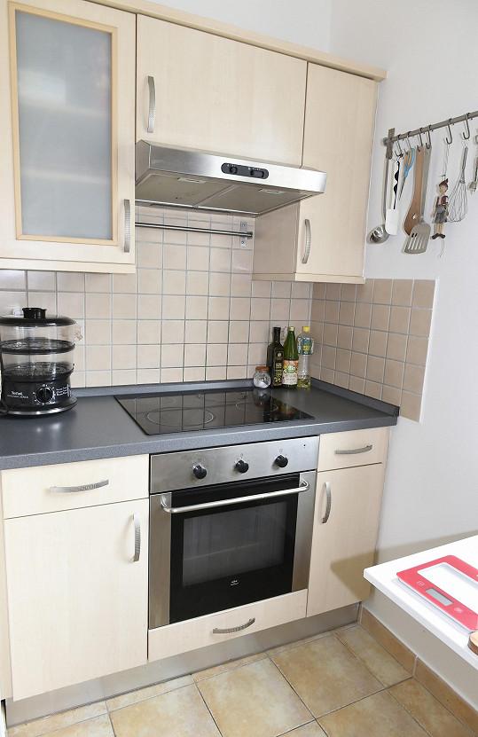 Kuchyňský prostor má zpěvačka menší.