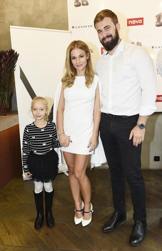 Petra s partnerem Ondřejem a dcerou Ráchel