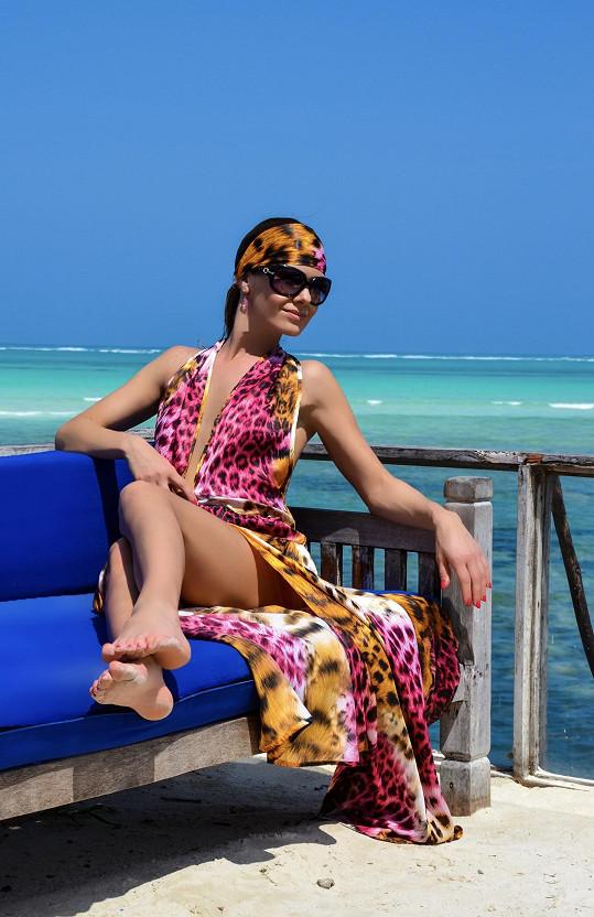 Jana Doleželová na Zanzibaru pracovala i relaxovala.