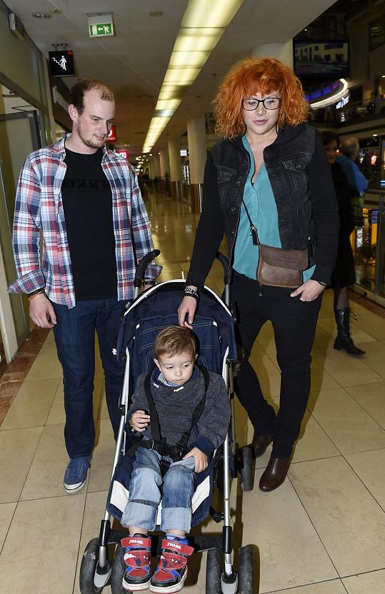 Štěpánka s novým přítelem Martinem a mladším synem