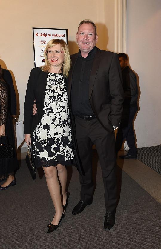 Štěpánka Duchková s manželem