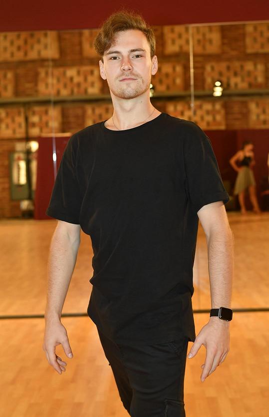 Dominik Vodička je se svou taneční partnerkou spokojený.