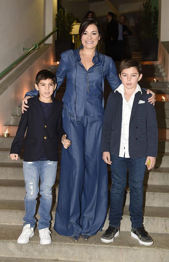 Na akci se po delší době pochlubila potomky, které má s brankářem Gigim Buffonem.