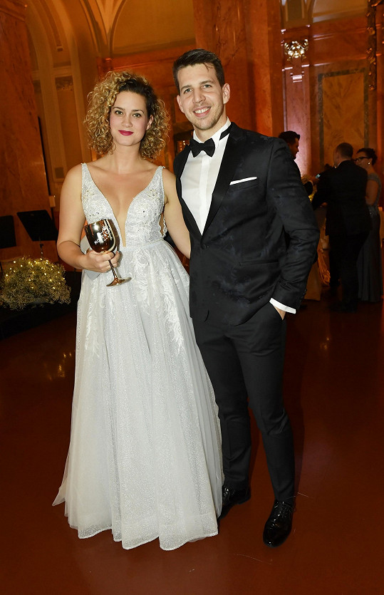 Peter Pecha s partnerkou Kateřinou na archivní fotce