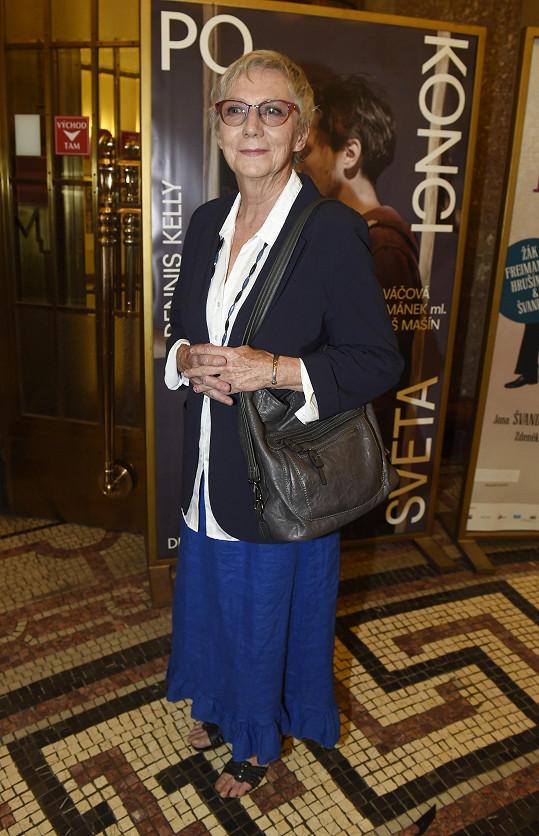 Po dlouhé době jsme potkali i herečku Danu Syslovou.