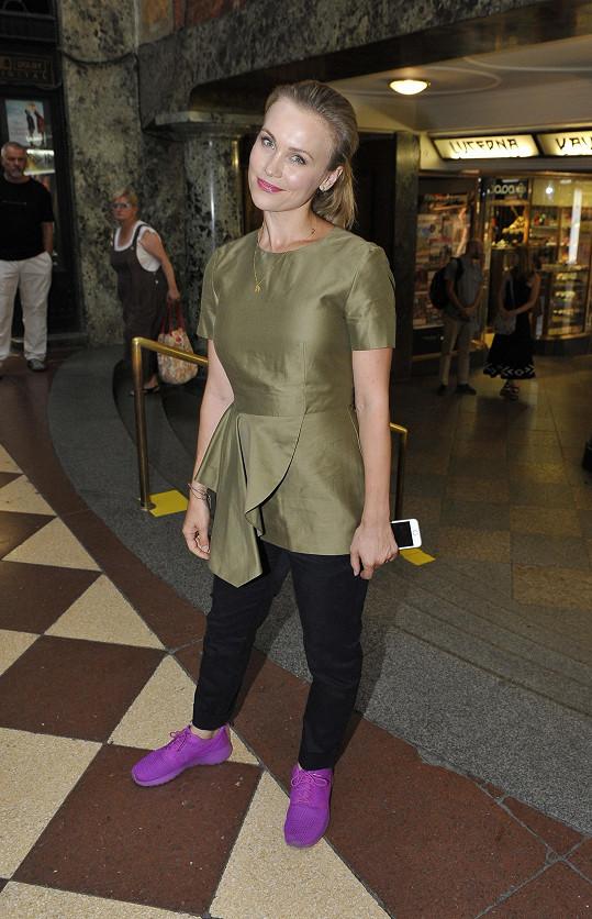 Na premiéru si vyšla i herečka Vlastina Svátková.