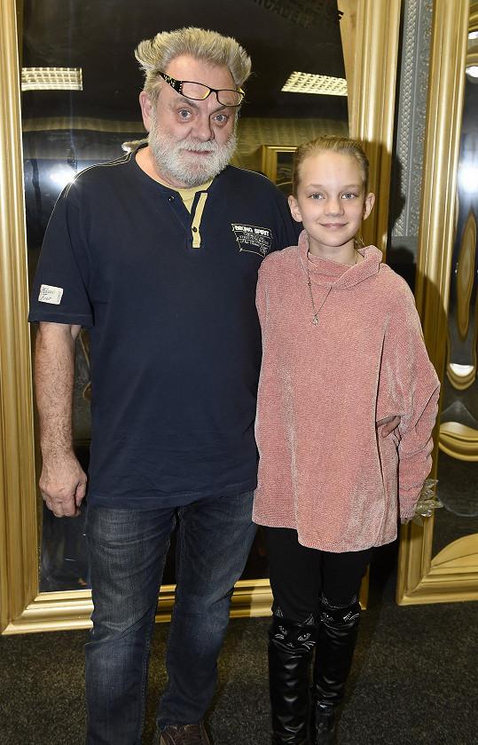 Václav Upír Krejčí s dcerou Kristinou
