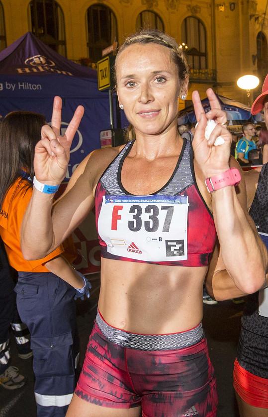 Eva Šebrlová si mezi 7500 běžci vybojovala 388. místo.