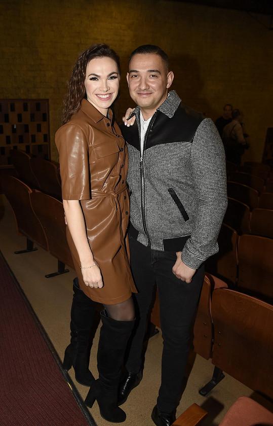 S přítelem Pepou, který ji doprovodil na narozeninový koncert.