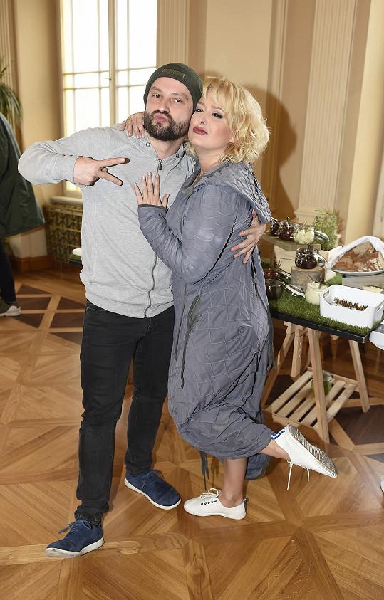 Marek s moderátorkou akce Miluší Bittnerovou