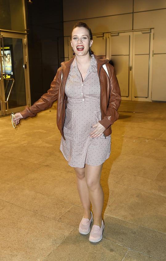 Kristýna na premiéře filmu Pepa.