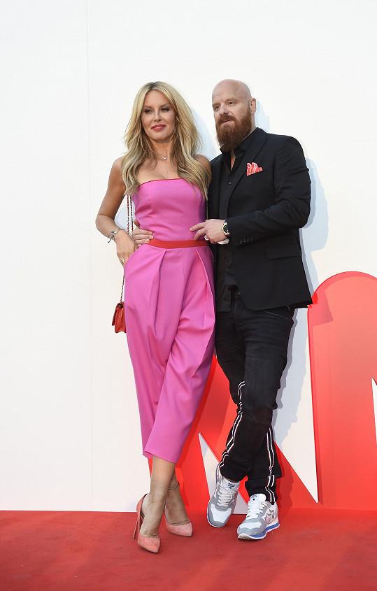 Modelka s manželem Karlem Vágnerem