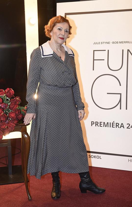 Lenka Termerová hrála před pandemií paní Briceovou ve Funny Girl.