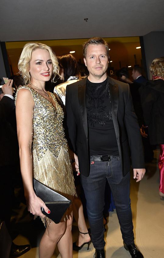 Markéta s manželem na finále České Miss.