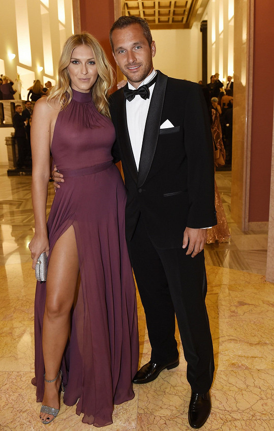 S manželem Mírou Hejdou na vyhlášení soutěže modelek a modelů