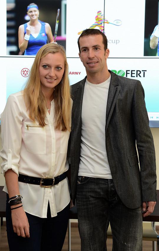 S dalším tenistou Radkem Štěpánkem randila rok.