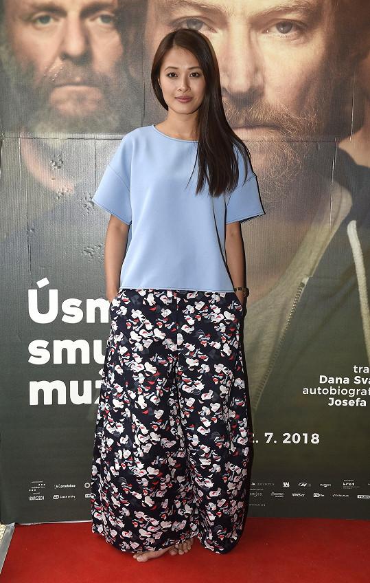 Ha Thanh na představení filmu Úsměvy smutných mužů
