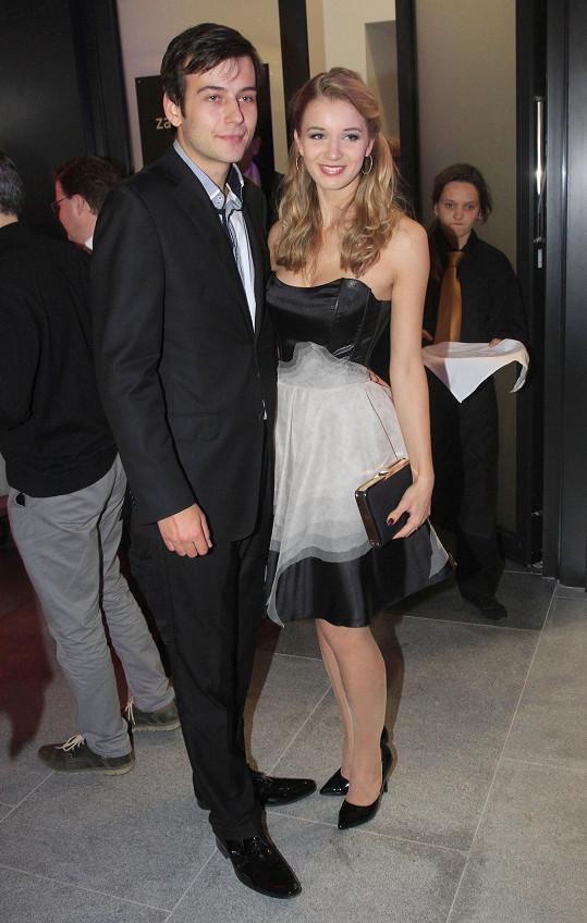 Gabriela Franková na párty s přítelem Romanem